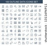 100 data icons. trendy data... | Shutterstock .eps vector #1311696911