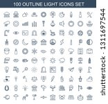 light icons. trendy 100 light... | Shutterstock .eps vector #1311697544