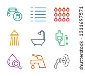 drop icons. trendy 9 drop icons.... | Shutterstock .eps vector #1311697571