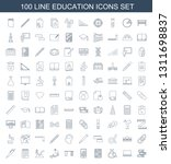 education icons. trendy 100... | Shutterstock .eps vector #1311698837