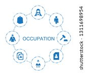 8 occupation icons. trendy... | Shutterstock .eps vector #1311698954