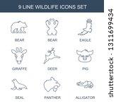 wildlife icons. trendy 9... | Shutterstock .eps vector #1311699434