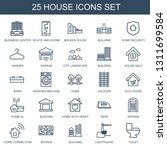 house icons. trendy 25 house... | Shutterstock .eps vector #1311699584