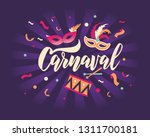 carnaval hand lettering text as ... | Shutterstock .eps vector #1311700181