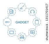 gadget icons. trendy 8 gadget... | Shutterstock .eps vector #1311701417
