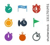 finish icons. trendy 9 finish... | Shutterstock .eps vector #1311701951