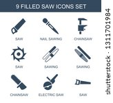 saw icons. trendy 9 saw icons.... | Shutterstock .eps vector #1311701984