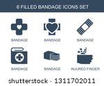 bandage icons. trendy 6 bandage ... | Shutterstock .eps vector #1311702011