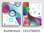 modern abstract covers set.... | Shutterstock .eps vector #1311706031