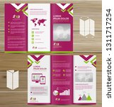tri fold brochure mock up ... | Shutterstock .eps vector #1311717254
