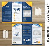 tri fold brochure mock up ... | Shutterstock .eps vector #1311717257