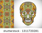 day of the dead colorful sugar... | Shutterstock .eps vector #1311720281