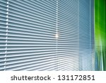 Venetian Blind Silver And Green