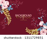 composition of beautiful pink... | Shutterstock .eps vector #1311729851