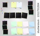 a large set of polaroid square... | Shutterstock .eps vector #1311731504