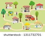 outdoor street food festival... | Shutterstock .eps vector #1311732701