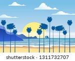 summer sunny tropical... | Shutterstock .eps vector #1311732707