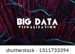 big data visualization. trendy... | Shutterstock .eps vector #1311733394