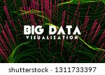 big data visualization. trendy... | Shutterstock .eps vector #1311733397