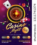 casino night template or flyer... | Shutterstock .eps vector #1311741374