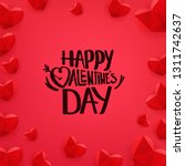 happy valentines day banner... | Shutterstock .eps vector #1311742637