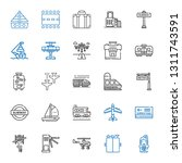 passenger icons set. collection ... | Shutterstock .eps vector #1311743591