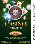 casino night party template... | Shutterstock .eps vector #1311744104