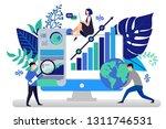 vector illustration in flat... | Shutterstock .eps vector #1311746531