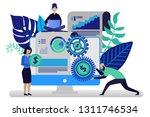 vector illustration in flat... | Shutterstock .eps vector #1311746534
