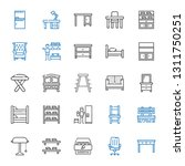 furniture icons set. collection ... | Shutterstock .eps vector #1311750251