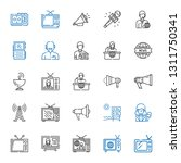 broadcasting icons set.... | Shutterstock .eps vector #1311750341