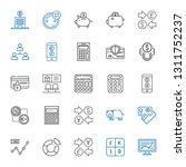 economy icons set. collection... | Shutterstock .eps vector #1311752237
