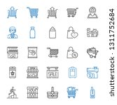 cart icons set. collection of... | Shutterstock .eps vector #1311752684