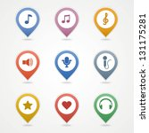 mapping pins icon | Shutterstock .eps vector #131175281