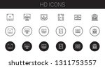 hd icons set. collection of hd... | Shutterstock .eps vector #1311753557
