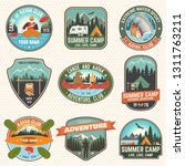 set of summer camp  canoe and... | Shutterstock .eps vector #1311763211