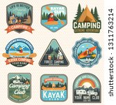 set of summer camp  canoe and... | Shutterstock .eps vector #1311763214