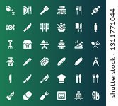 fork icon set. collection of 36 ...   Shutterstock .eps vector #1311771044