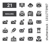 mailing icon set. collection of ...