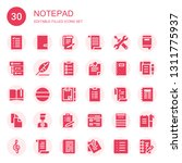 notepad icon set. collection of ...   Shutterstock .eps vector #1311775937