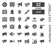 loud icon set. collection of 32 ... | Shutterstock .eps vector #1311778067