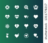 lover icon set. collection of...