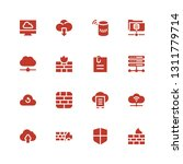 upload icon set. collection of... | Shutterstock .eps vector #1311779714