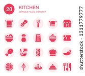 kitchen icon set. collection of ... | Shutterstock .eps vector #1311779777