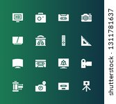 multimedia icon set. collection ... | Shutterstock .eps vector #1311781637