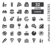 cheese icon set. collection of... | Shutterstock .eps vector #1311783281