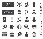 research icon set. collection... | Shutterstock .eps vector #1311783287
