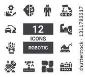 robotic icon set. collection of ... | Shutterstock .eps vector #1311783317