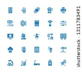 device icon set. collection of... | Shutterstock .eps vector #1311783491