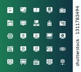 wide icon set. collection of 25 ... | Shutterstock .eps vector #1311783494